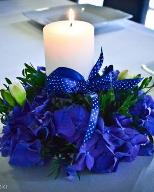 Hotel Moran w Powidzu  - niebieskie hortensje
