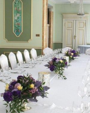 Pałac Balcerowo w Gnieźnie - fiolety