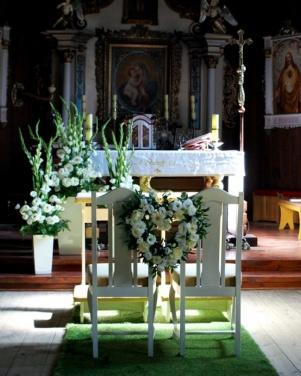 Kościół św. Marcina w Pawłowie - białe serce