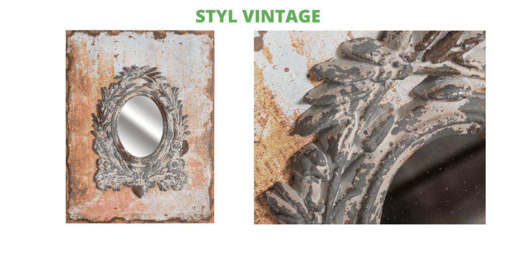 lustro vintage aluro