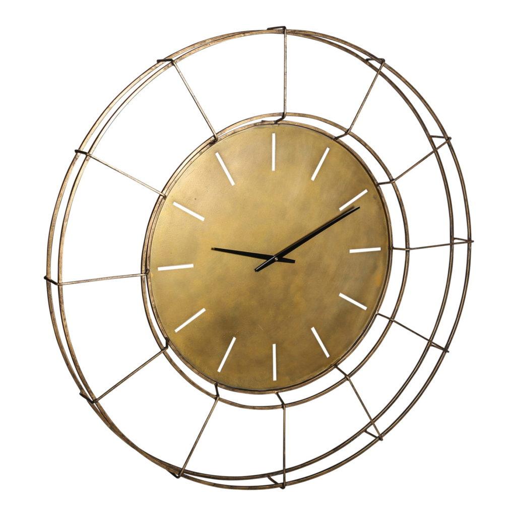 złoty duży zegar