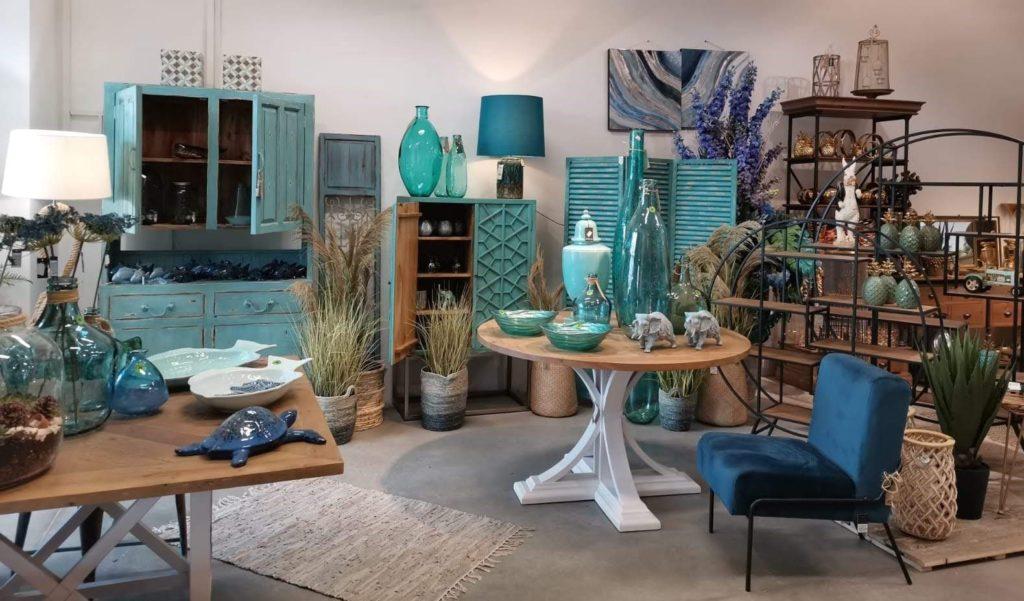 dekoracje do domu niebieskie