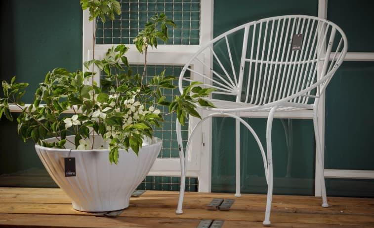 fotel metalowy aluro