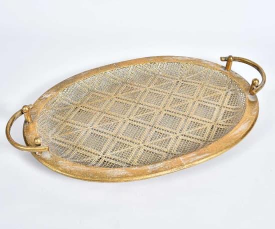 złoty talerz dekoracyjny