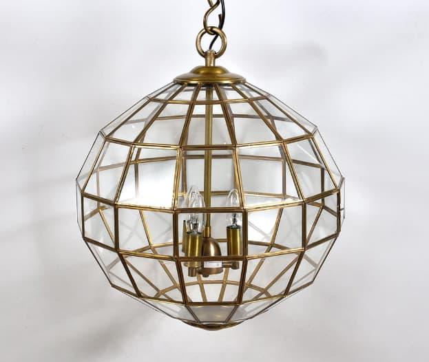 złota lampa