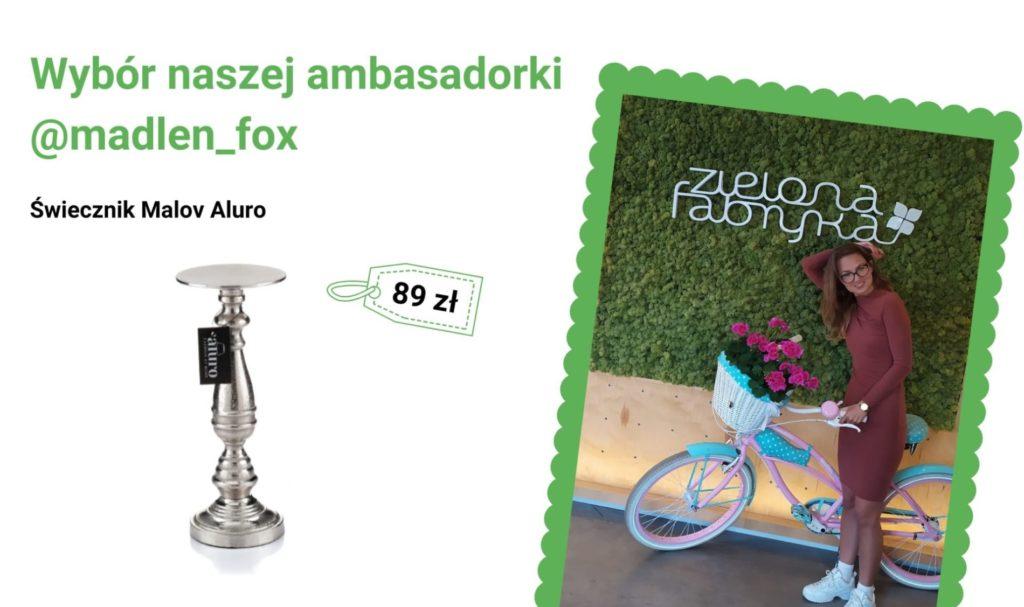 Świecznik Malov Aluro - wybór naszej ambasadorki @madlen_fox