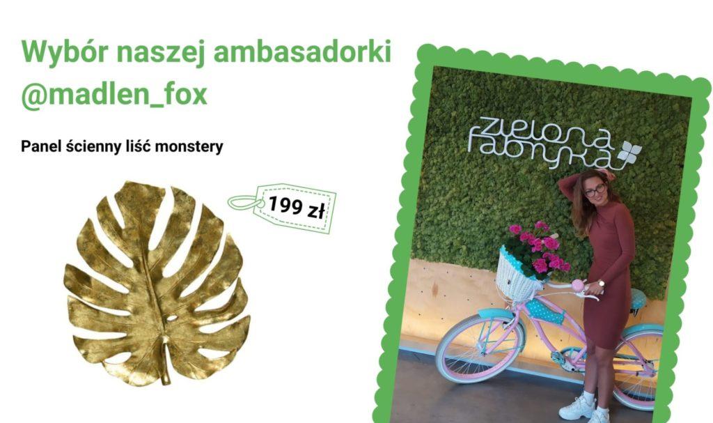 Panel ścienny liśćmonstery - wybór naszej ambasadorki @madlen_fox